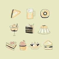 Food and beverage icons set