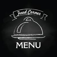 Food corner menu card design
