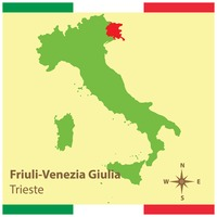 Friuli-venezia giulia on italy map