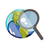 Earth Globe Globes Magnifying Glass Loupe World Worlds ...