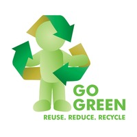 Go green recycle concept