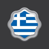 Greece flag badge