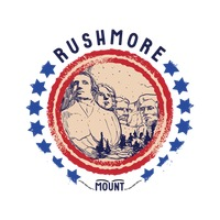 Grunge rubber stamp of rushmore mount