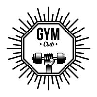 Gym club label
