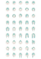 Hairstyle icons set