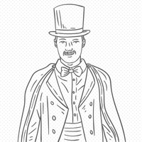 Hand drawn magician