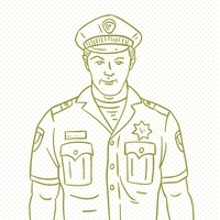 Hand drawn policeman