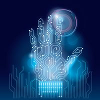 Popular : Hand on circuit board wallpaper