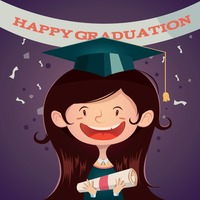Happy graduation poster