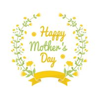 Happy mothers day floral design