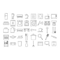 Home appliances and furniture set