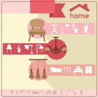 Home furniture and accessories design template