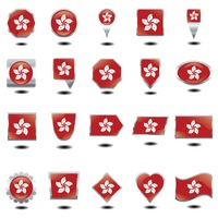 Hong kong flag icons