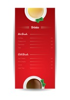 Hot and cold drinks menu poster