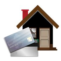 House with banking card