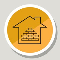 House with bricks icon