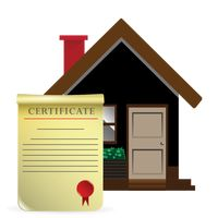 House with certificate