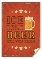 Ice cold beer served here poster