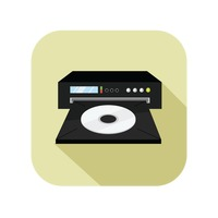 Icon of a dvd player