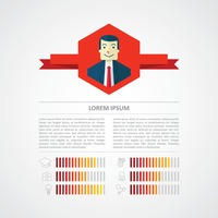 Infographic of a businessman's profile