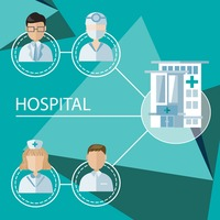 Infographic of hospital occupations
