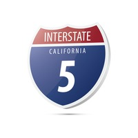 Interstate california route sign