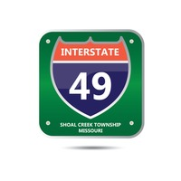 Interstate forty nine route sign