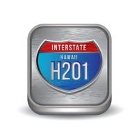 Interstate hawaii h201 sign