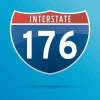 Interstate one seventy six route sign