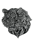 Intricate tiger design