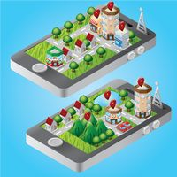 Isometric buildings on smartphone