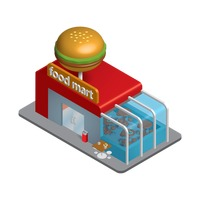 Isometric food mart