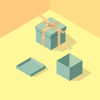 Isometric gift boxes