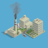 Isometric of factory
