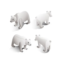 Isometric polar bears