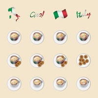 Italy coffee icons