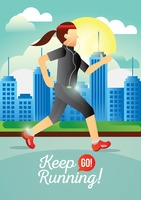 Keep go running poster