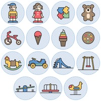 Kids and toys icons