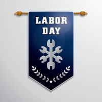 Labor day hanging pennant