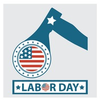 Labor day label