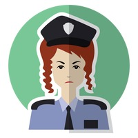 Lady police officer
