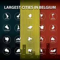 Largest cities in belgium