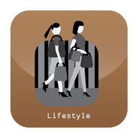 Lifestyle mobile app icon