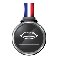 Lips in a medal