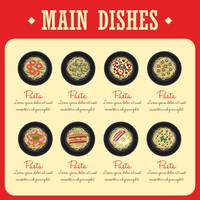 Main dishes menu design collection