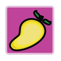 Mango over fuchsia background