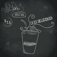 Menu special ice blended design