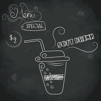 Menu special soft drink design