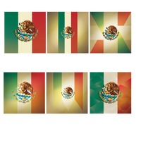 Mexico flag background collection