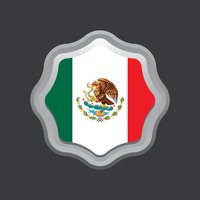 Mexico flag badge